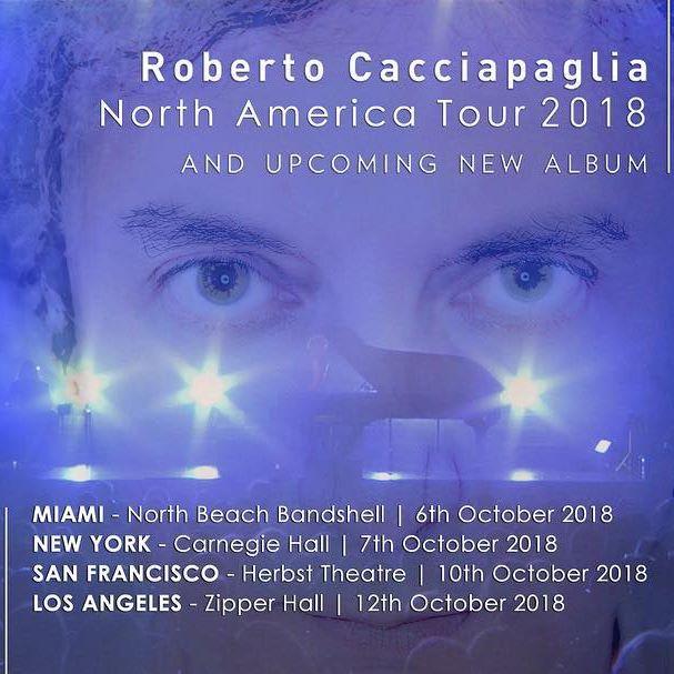 Roberto Cacciapaglia - North America Tour 2018