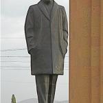 La statua di Aznavour a Gyumri in Armenia
